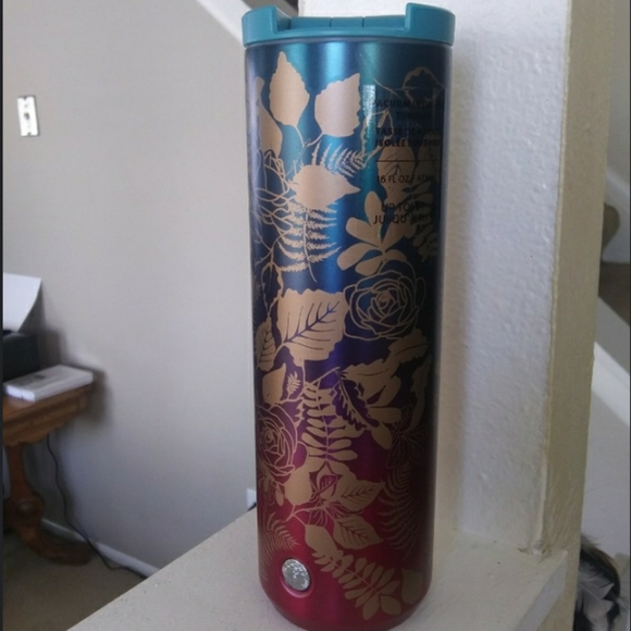 NWT Starbucks Fall Rose Ombre tumbler